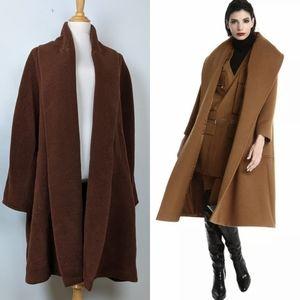 MAX MARA Alpaca Mohair Wool Cocoon Coat 10 $3890